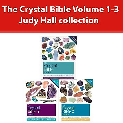 Judy Hall 3 Books Collection Set The Crystal Bible Volume 1-3 Godsfield Bibles