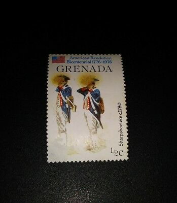 Briefmarke Stamp Grenada USA United States of America Revolution Sharpshooters