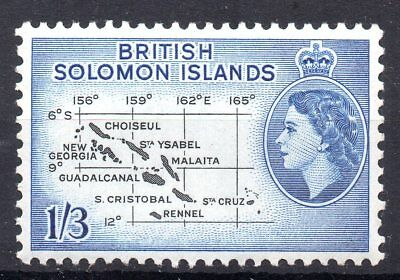 British Solomon Islands - 1956 SG 91b 1s3d Black & Blue Unmounted Mint MNH