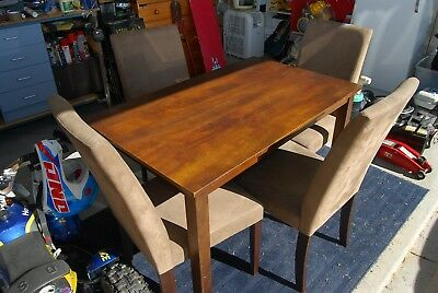 Solid Wood Dining room table with 4 chairs (Super Amart)