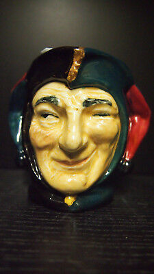 Royal Doulton Jester D5556 Rare Trial Colourway Character Jug Small