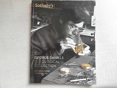 Auction Catalogue.  The George Daniels Horological Collection Sotheby's 6/11/12