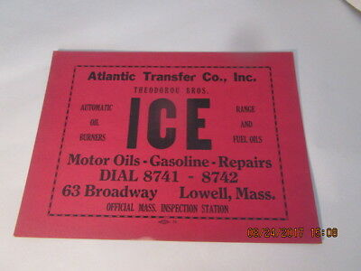 Atlantic Transfer Co., Inc. Theodorou Bros. Lowell, Mass. Advertising Sign