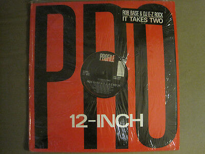 "Rob Base & Dj E-Z Rock It Takes Two 12"" Orig '88 Profile Pro-7186 Rap Vg Shrink!"