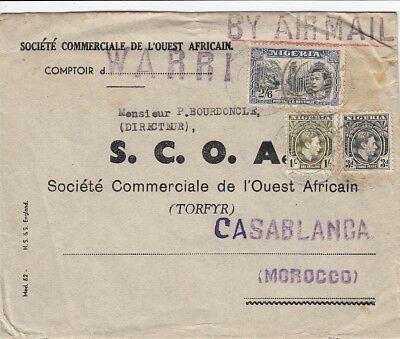 nigeria to morocco air cover 1939 WARRI high franking