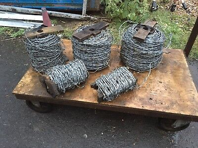 3 X200 M Rolls OF Galvanised Heavy Duty BARBED WIRE