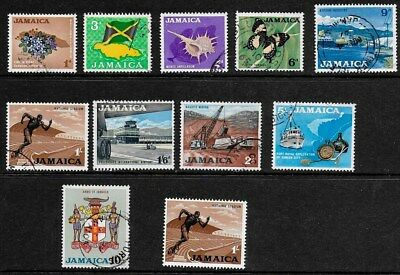 Jamaica 1964 Pictorials - SS with values to 10/-  - Used + 1/- MNH