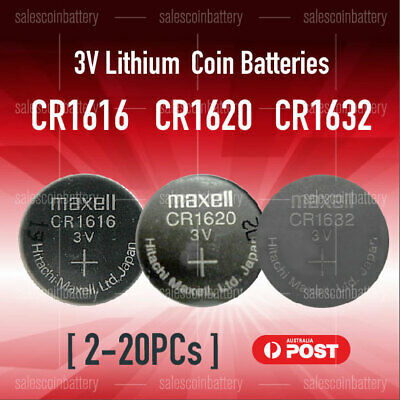 CR1616 CR1620 CR1632 Button Coin Lithium Battery 3V Batteries made in Japan