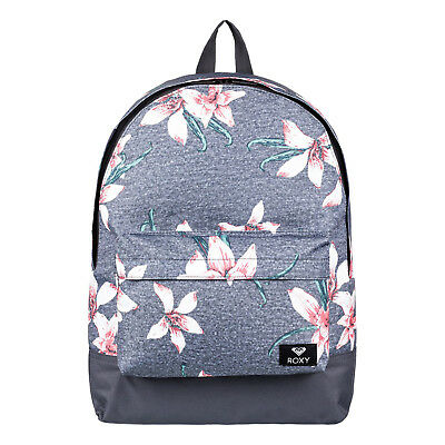 d21b083ad6 ROXY SUGAR BABY 16L Backpack - Charcoal Heather Flower - EUR 29