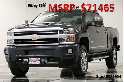 Chevrolet Silverado 2500 HD MSRP$71465 4X4 High Country Diesel DVD Gray Crew 4WD New 2500HD Duramax GPS Navigation Heated Cooled Black Leather Crew 17 2017 18
