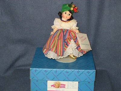 Vintage Madame Alexander Doll Brazil #547 with Box, Tag, Stand