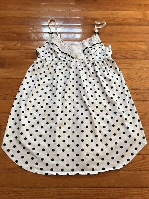 Victoria Secret Women's White With Black Polka Dots Cami Size Medium