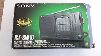 Sony ICF-SW10 12 band FM/LW/MW/SW (1-9 band) radio receiver boxed