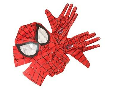 Stunning Amazing Spider-Man 2 mask and Align Elbow Gloves Cosplay black hood New