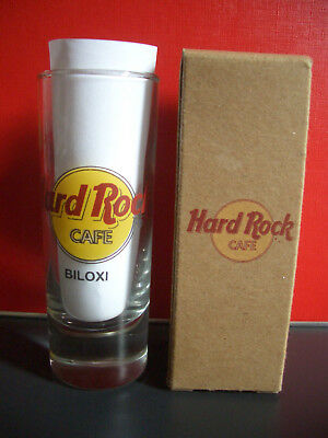 HRC Hard Rock Cafe Biloxi Classic Logo Black Letter Shot Glass Schnapsglas