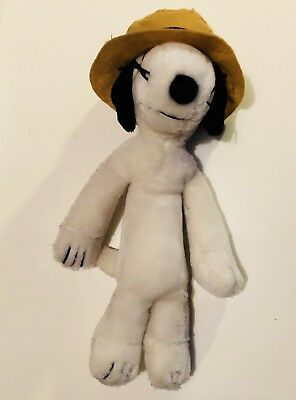 """Peanuts Plush 12"""" Spike, Snoopy's Brother, With Original Hat"""