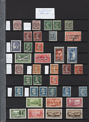 Lebanon - Grand Liban - Unused & Used small collection stamps--Fresh!
