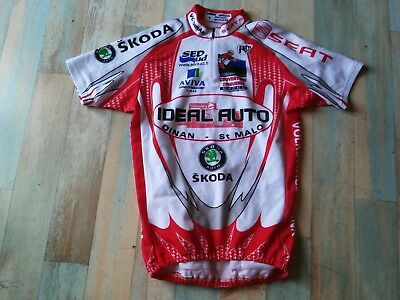 Maillot Cycliste Noret Vc Dinan Ideal Auto Skoda Taille S/2 Tbe