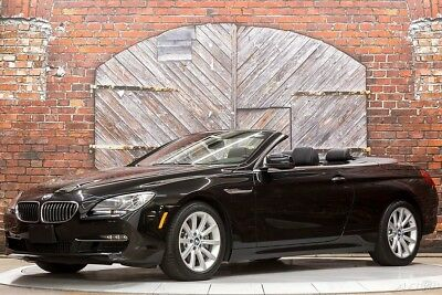 BMW 6-Series 640i Convertible 13 1-Owner with Only 13k Original Miles Nav Camera Ventilated Seats Head Up Disp