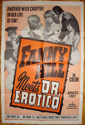 Fanny Hill meets Dr. Erotico-Horror-Sexy-Frankenstein-B. Mahon-Adult Movie-OS