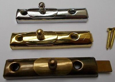 VINTAGE RETRO SHOWCASE BOLT -old retro style cupboard door slide lock latch