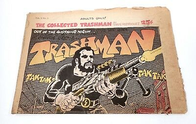 The Collected Trashman (1969) -- Spain Rodriguez --1st printing, folded tabloid.
