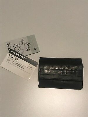 NEW FREITAG F50 E.T. Small Wallet | Card Case, Cash and Coin Wallet | BLACK
