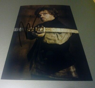 Autogramm Peter Dinklage Tyrion Lannister Original Signiert Foto Game Of Thrones