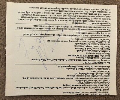 freddie mercury hand signed autograph queen Taylor may deacon