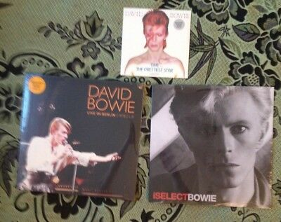 "ALL 3 ! David Bowie Brooklyn Berlin LP Orange + Time 7"" Silver + iSELECT LP Red"