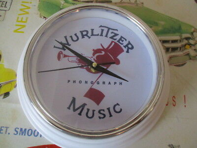 Wurlitzer Johnnie One Note White Wall Clock