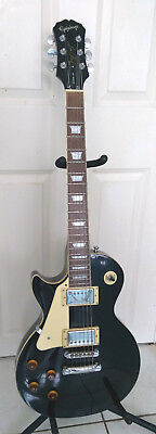 Epiphone Les Paul LEFT HANDED by Gibson Electric Guitar black, Made in Korea