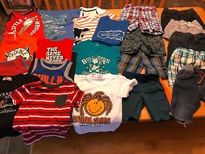 21 Mixed Item Lot of Boys Summer Clothes 3T-5T Very Good Condition Shirts/Shorts