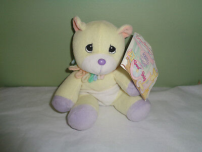 1999 Precious Moments - Tender Tails - Baby Yellow Bear - Circus Birthday Train