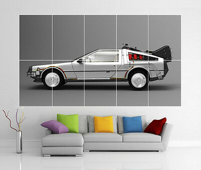 Delorean Back To The Future Giant Wall Art Picture Print Poster G110