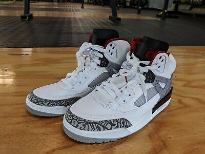 finest selection 001ed 2ee04 Nike Air Jordan Spizike White Cement 315371-122 White Red Grey Men Size 8