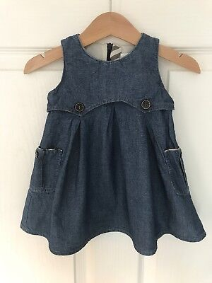 Burberry Baby Girl Denim Style Dress 6 Months Summer Clothes!