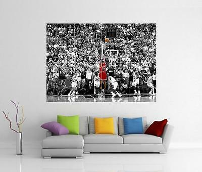 Michael Jordan 'last Shot' Chicago Bulls Basketball Giant Photo Print Poster