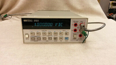 HP Agilent Keysight 34401A Digital Multimeter 6.5 digit w/GPIB, RS232 Cal'd