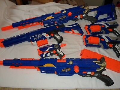 Nerf N-Strike Longstrike CS-6 Sniper Rifle Gun Blaster + MORE BLASTERSTESTED VGC
