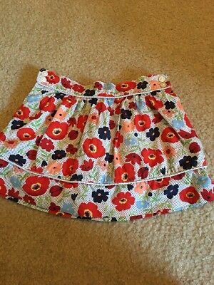 Janie And Jack Girls 2T Floral Skirt Ladybugs