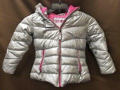 Weatherproof 32 Degree Girls' Metallic 100% Polyester Coat Jacket Size 5