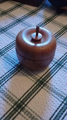 wooden apple shape box