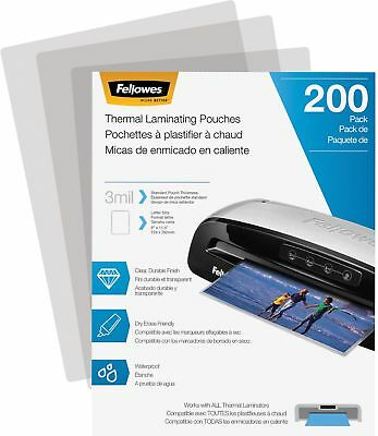 Fellowes Laminating Pouch, 3 Mil, 200 Pack