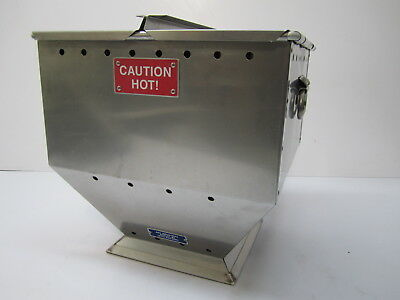 A&E Ind. D-75 Portable Heated Dry Stainless Stadium Event Warmer Vendor Box