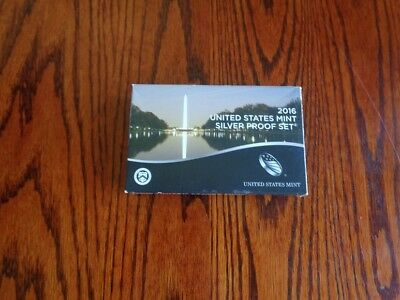 2016 United States       Silver Proof Set    13 Coins    Original Box And Cert