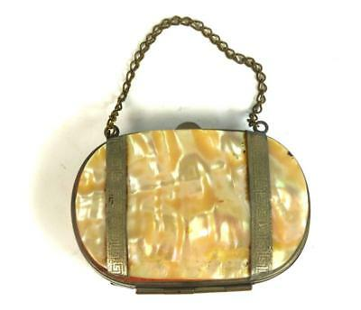 Antique Vintage Mother Of Pearl Mop Purse