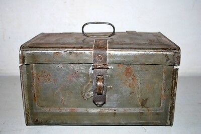 1900's Antique Very Rare Grain Storage Tin Box Collectible