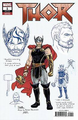 Thor #1 1/10 Russell Dauterman Thor Design Variant - Sold Out