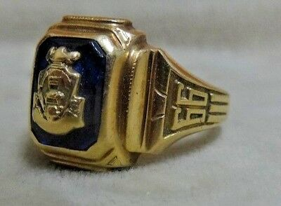 Vintage 1966 Dieges & Clust 10k Yellow Gold High School or College Class Ring.